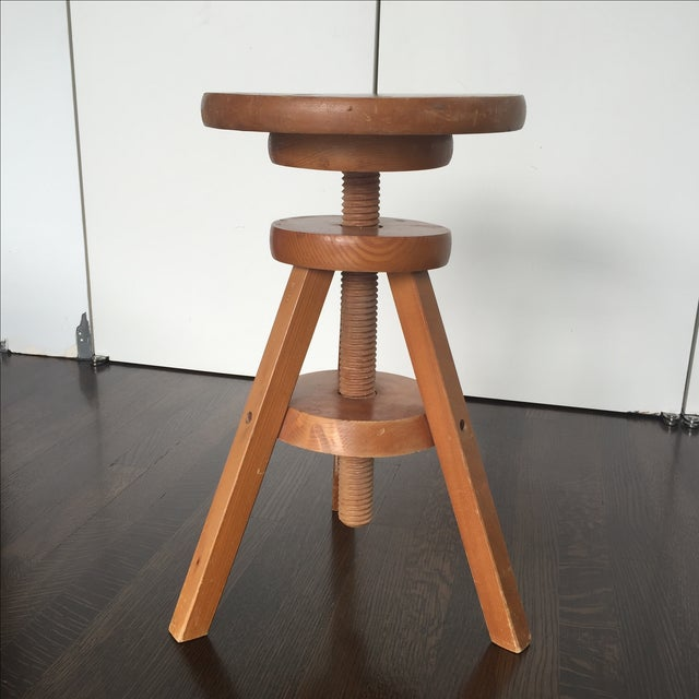 Wooden 3-Legged Side Table - Image 2 of 5