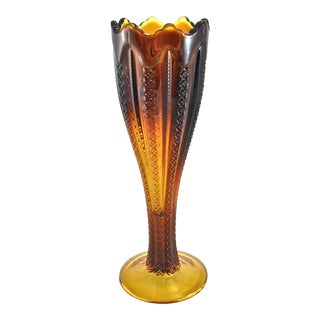 1900s Amber Glass Vase