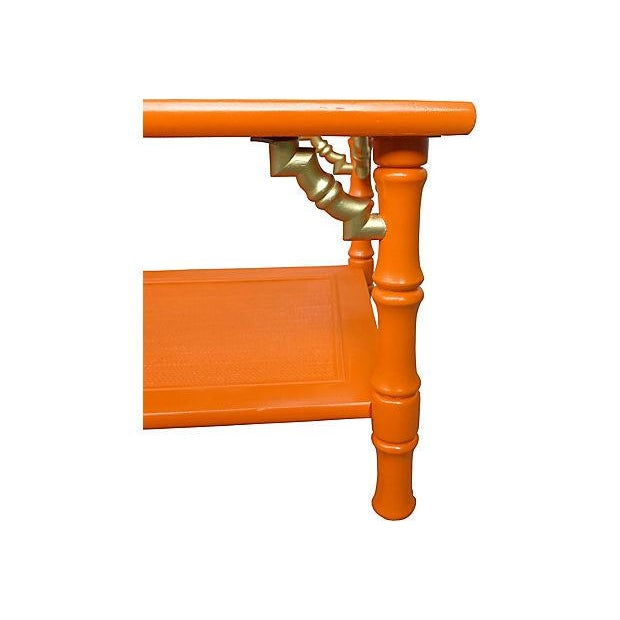 Orange 1960s Bamboo Style Coffee Table Chairish