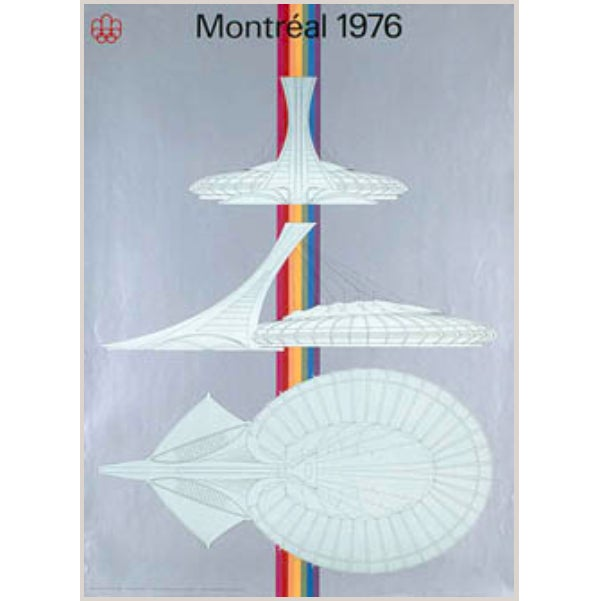 Vintage 1976 Montreal Olympic Stadium Poster - Image 1 of 2