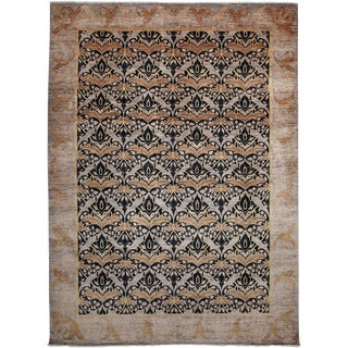 """Arts & Crafts Hand Knotted Area Rug - 8'10"""" X 12'3"""""""