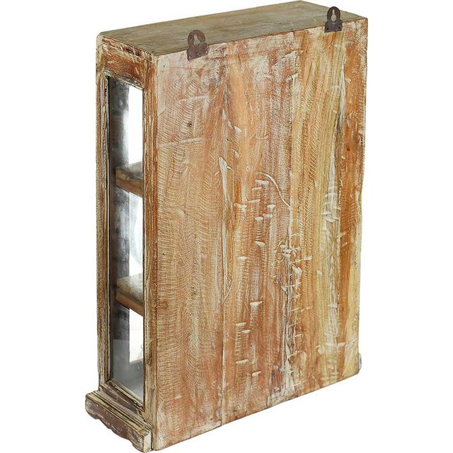 Rustic Brown Wood Showcase Wall Cabinet - Image 4 of 4
