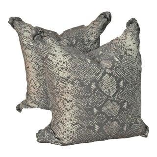 Snake Skin Print Pillows - A Pair