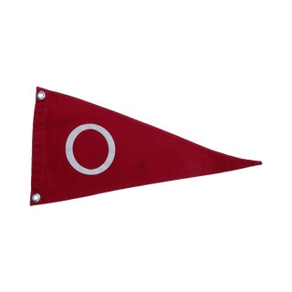 1950s Boat Flag with the Letter O
