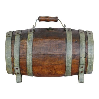Antique Rustic Primitive Oak Barrel