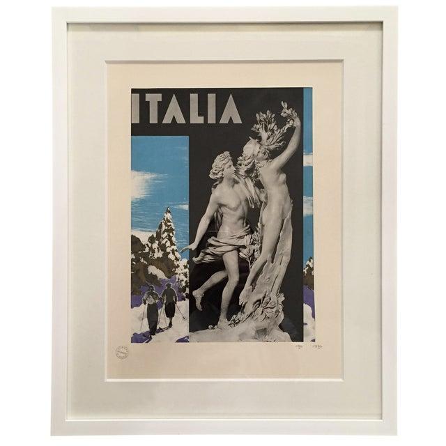 Image of 1936 Vintage Advertising Tourism Print Italia