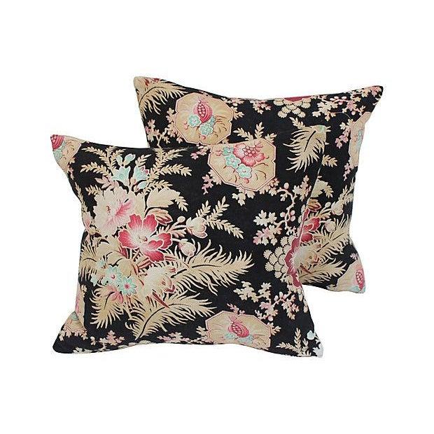 Victorian Era Pillows : Victorian Era Floral Pillows - Pair Chairish
