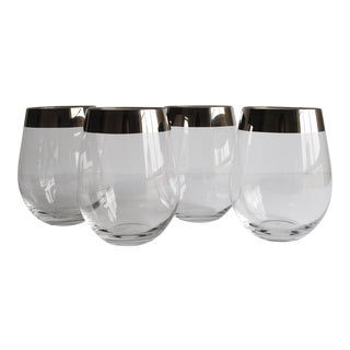 Silver Band Tumblers - Set of 4