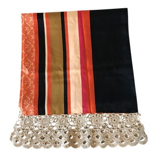 Italian Lace & Stripe Table Runner