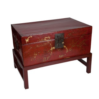 Zhejiang Leather Trunk with Stand