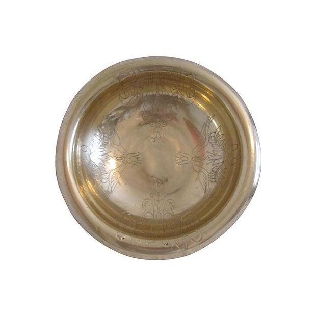 Vintage Brass Kissing Doves Centerpiece Bowl - Image 2 of 6