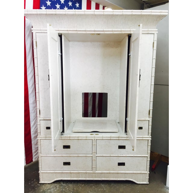 Faux Bamboo Dresser Cabinet by Ficks Reed - Image 9 of 11