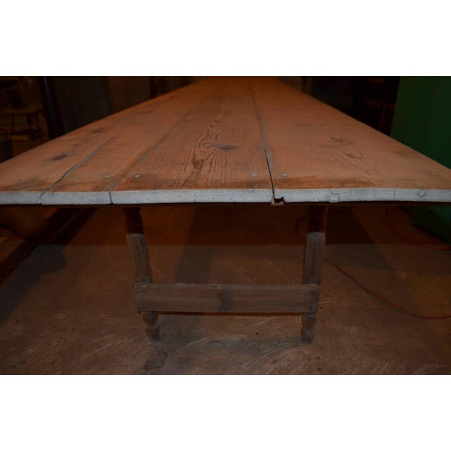 Antique Old Harvest Pine Table - Image 9 of 9