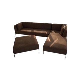 Ligne Roset Modern Ultrasuede Sectional Sofa