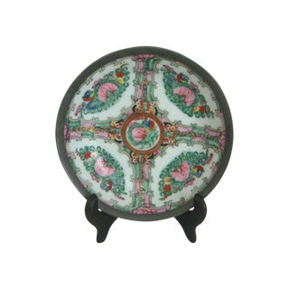 Maas Brothers Chinese Rose Canton Plate & Stand