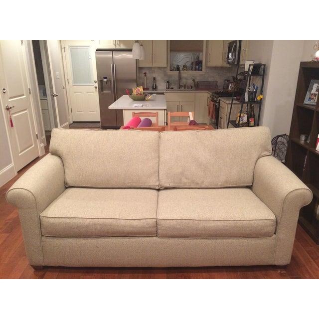 Natural Twill Sleeper Sofa - Image 2 of 8