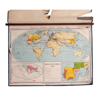 Vintage Denoyer-Geppert World Map