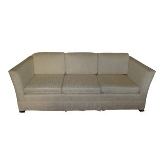 White Transitional Club Sofa