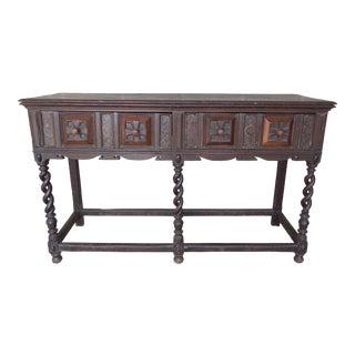 Antique Baroque Renaissance George II Oak Console Dressing Table Server