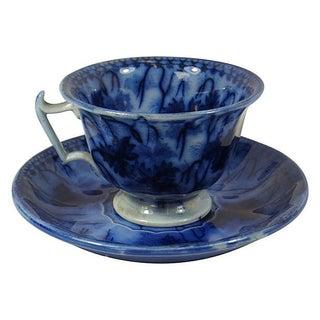 Flow Blue Villeroy & Boch Cup & Saucer