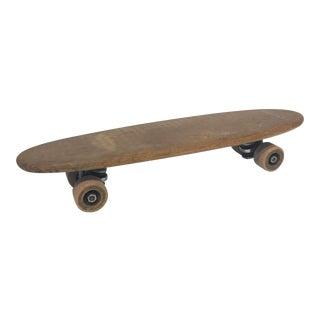 Vintage 1970's Wooden Skateboard