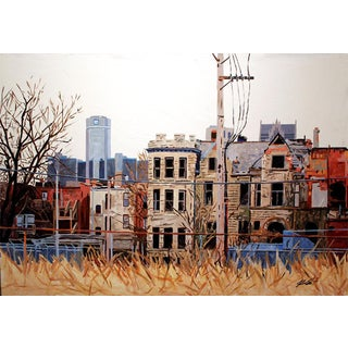 Contemporary Acrylic Painting - Detroit Series #4