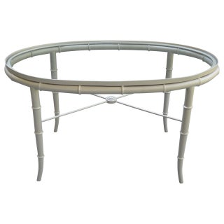 Faux Bamboo & Brass Cocktail Table