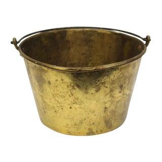 Vintage Gold Metal Basket