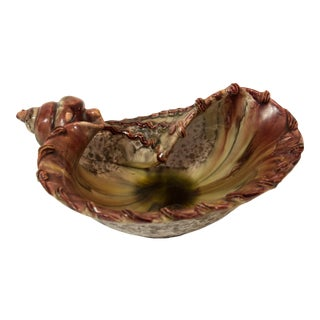 Majolica Conch Candy Dish