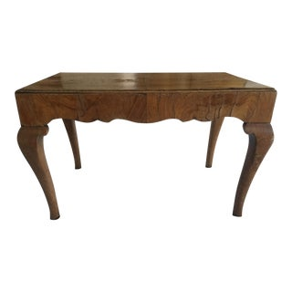 Antique English Queen Anne Applewood Footstool