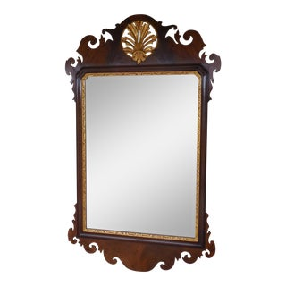 Vintage Mahogany Federal Style Gold Gilt Accented Mirror