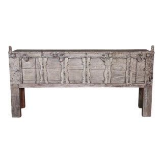 Whitewash Oxcart Teak Console Table