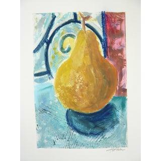 Martha Holden Original Abstract Pear Drawing