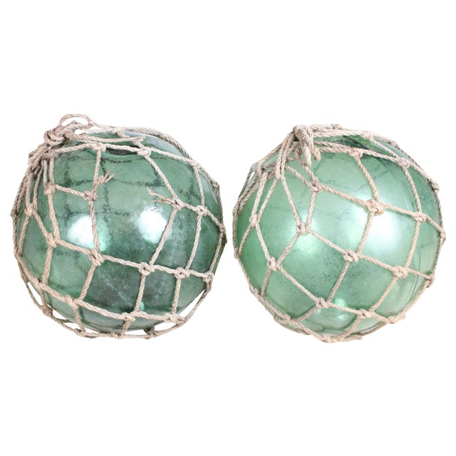 Image of 1920s Fishing Net Floats - Pair