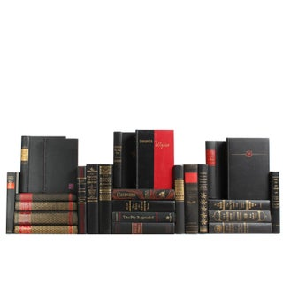 Black Accented Books - Set of 25