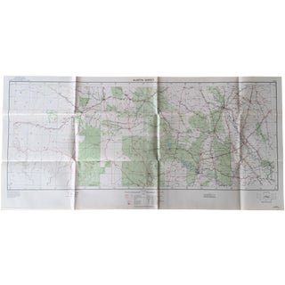 WWII Era U.S. Army War Map - 1940 Austin Sheet