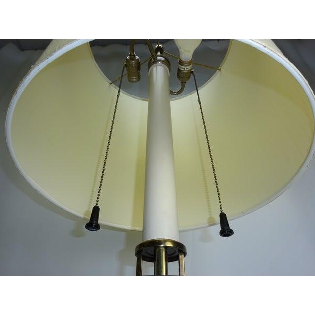 Circa 1960 Faux Bamboo Enamel Table Lamp - Image 8 of 9