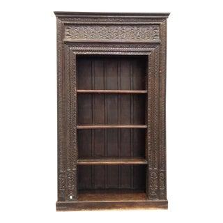 Extra Large Carved Wood Bookshelf