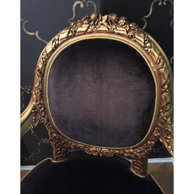 Antique French Louis XVI Rococo Gilt Armchair - Image 3 of 6