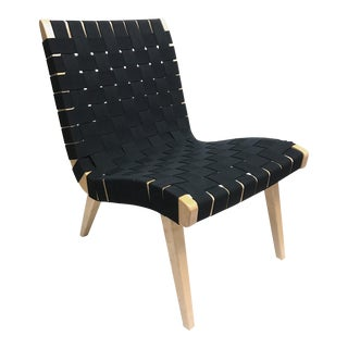 Black Risom Lounge Chair