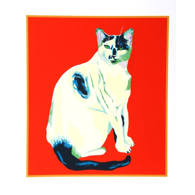 Image of Dody Muller Mid-Century 'My Cat' Lithograph