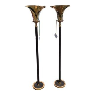 Art Deco Modernist Floor Lamps - a Pair