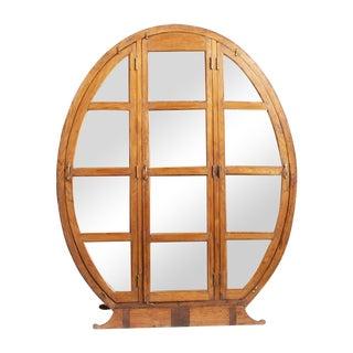 Vintage Deco Egg Shape Cabinet