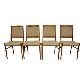 Danish Teak Dining Chairs - Set of 4