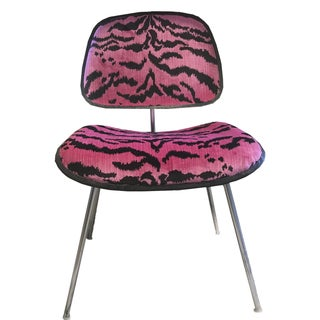 Pink Scalamandre Le Tigre Eames Chair
