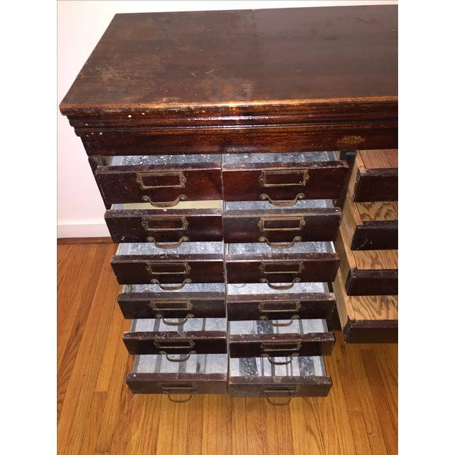 Multi-Drawer Antique Optical Cabinet - Image 6 of 7