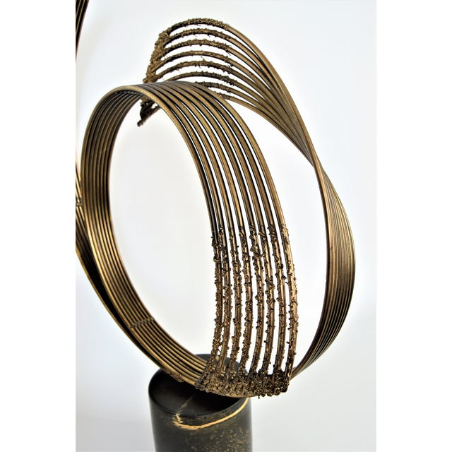 Curtis C. Jere Mid-Century Modern Vintage Brass Brutalist Kinetic Table Sculpture MCM Millennial - Image 7 of 11