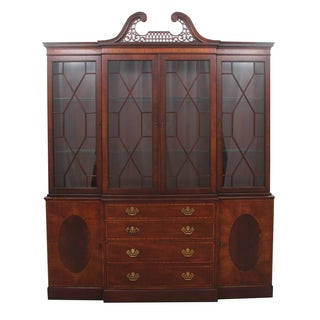 Baker Furniture Breakfront China Cabinet