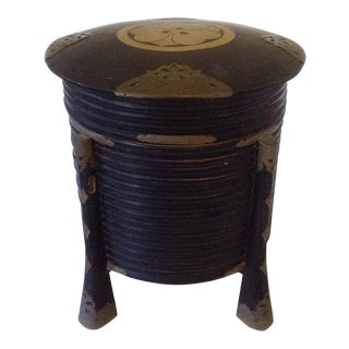 Japanese Black Lacquer Storage Box