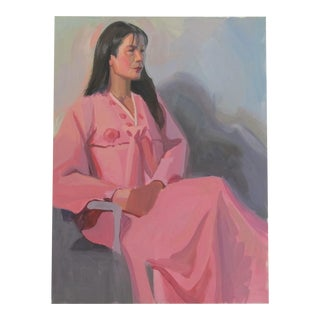 Woman in a Pink Dress Painting